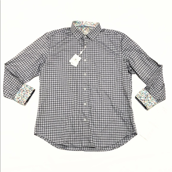 Bugatchi Other - Bugatchi Uomo Long Sleeve Button Shirt Shaped Fit